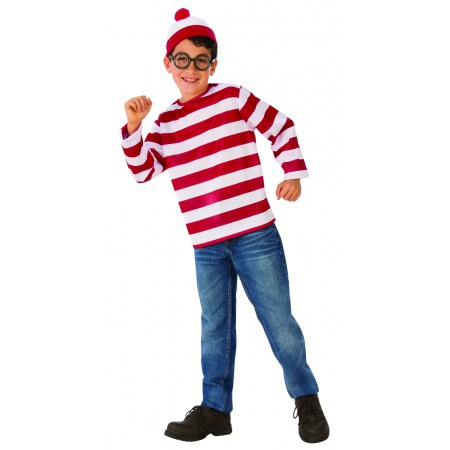 Wheres Waldo Kids Costume image