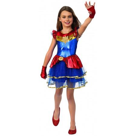Girls Captain Marvel Costume image