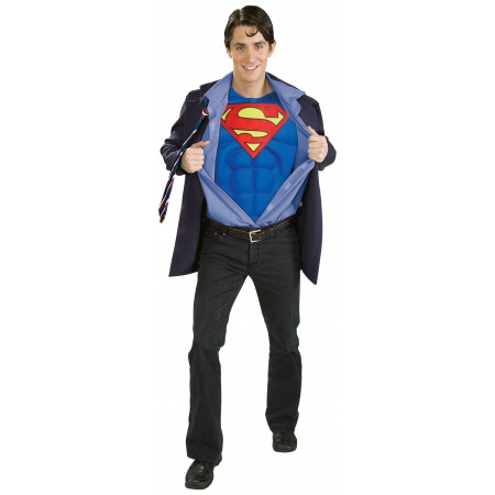 Clark Kent Superman Costume Business Suit Superhero Disguise image