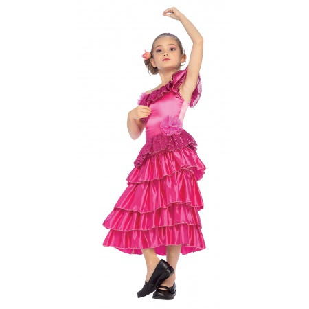 Kids Flamenco Dancer Costume image