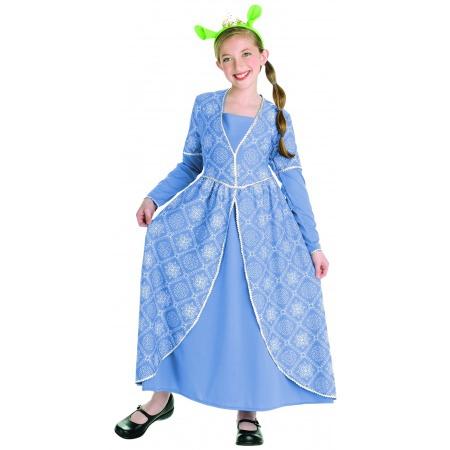 Kids Princess Fiona Dress Costume image