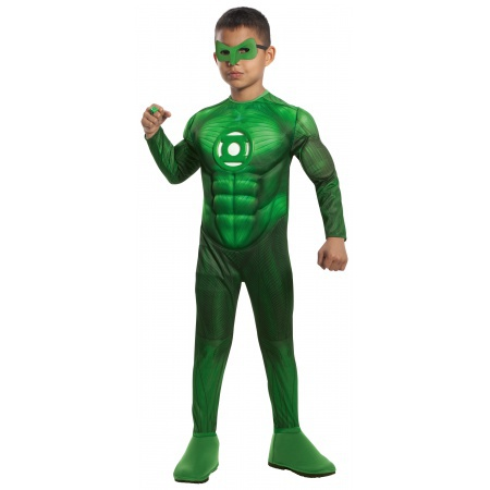 Deluxe Muscle Chest Hal Jordan Costume Green Lantern Superhero image