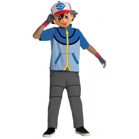 Kids Pokemon Ash Ketchum Costume image