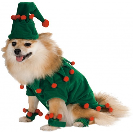 Elf Pet Costume Dog Doggy Santa Claus Helper image