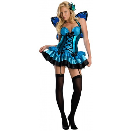 Blue Butterfly Adult Fairy Costume image