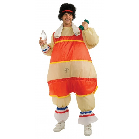 Funny Inflatable 80s Workout Costume image