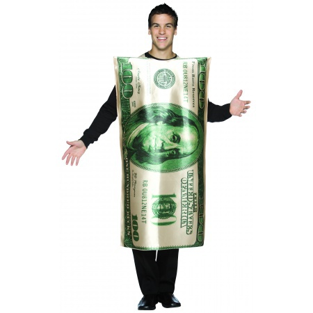 100 Dollar Bill Costume image