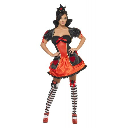 Adult Queen Of Hearts Sexy Costume image