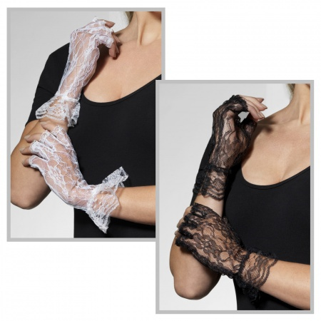 Fingerless Lace Gloves image