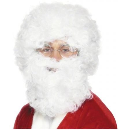 White Santa Beard And Wig Set image