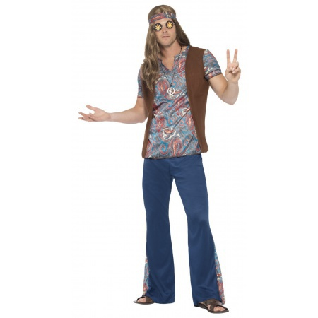 Mens Hippie Costume image