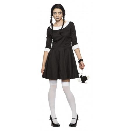 Creepy Girl Wednesday Costume image