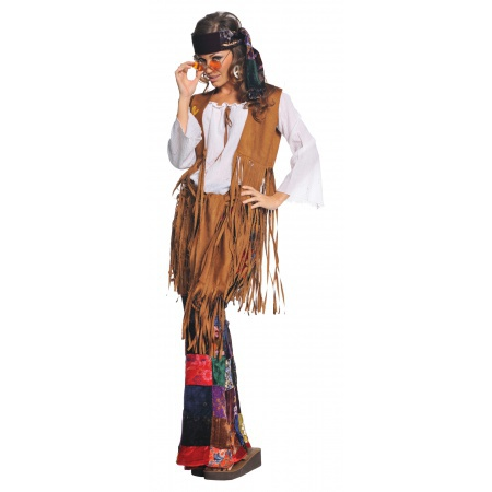 Hippie Girl Halloween Costume image