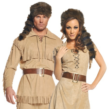 Coonskin Cap Davy Crockett Costume Hat image