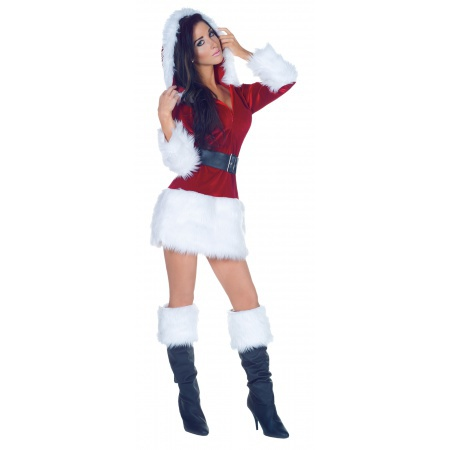 All Wrapped Up Costume Mrs Ms Miss Santa Claus Dress image