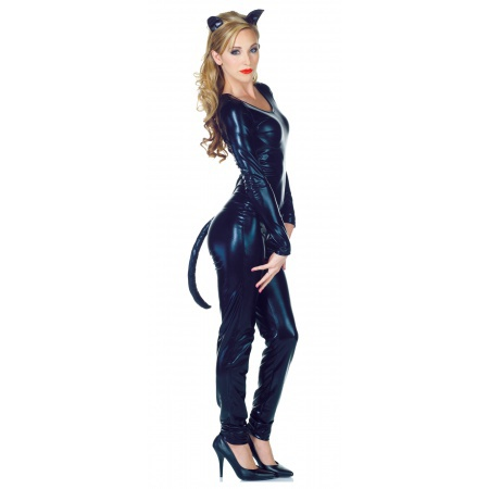 Black Cat Ears And Tail image