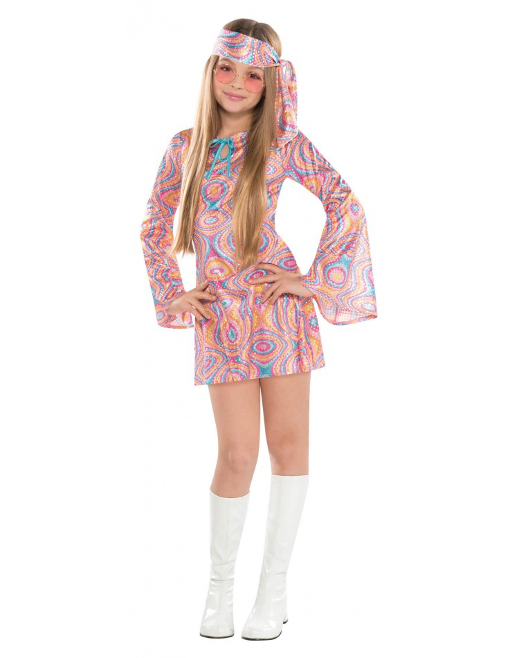 Girls Hippie Costume For Halloween Female