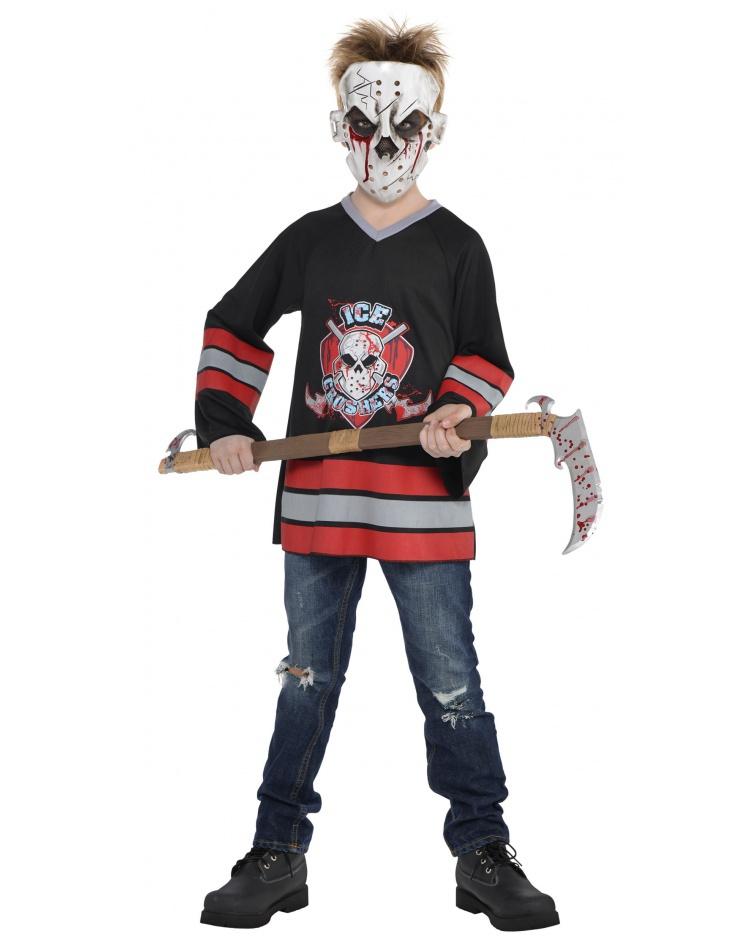kids scary hockey player halloween costume image