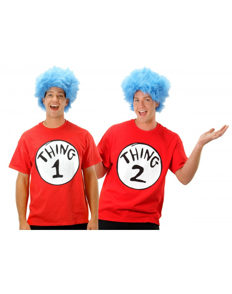 Thing One Two Costume Adult Dr Seuss