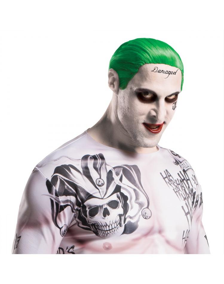 Suicide Squad Joker Jared Leto Tattoo Damaged Ladies T-Shirt AH94
