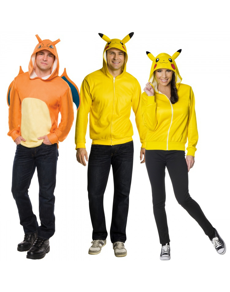 Pikachu Or Charizard Pokemon Hoodie For Adults Male Halloween